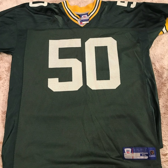 3cbce028 NFL REEBOK Green Bay Packers Jersey XL HAWK 50